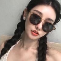 眼镜女潮复古新款茶色墨镜圆框网红街拍太阳镜ins