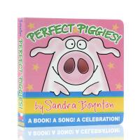 【满300-100】英文原版绘本 Perfect Piggies!完美的小猪 纸板书 Sandra Boynton 洞洞