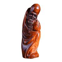 海南黄花梨木雕寿星摆件实木红木雕刻贺寿礼品家居风水工艺品