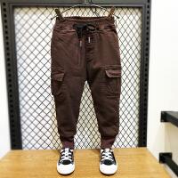 男童运动裤冬装儿童休闲长裤子宝宝冬季工装裤潮