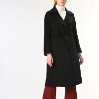 焦糖色两穿双面羊绒大衣女中长款2018新款韩版高端秋冬毛呢子外套