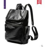 简约精致多口袋休闲旅行电脑包双肩包男士背包韩版学生书包