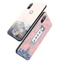 小米mix2s手机壳 小米mix2S保护套 小米mix2s 手机保护壳 个性创意中国风软硅胶全包防摔男女款潮浮雕彩绘保