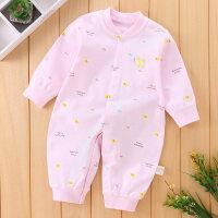 新生婴儿连体衣春秋纯棉宝宝哈衣睡衣爬爬服0-3-6-12个月薄款衣服