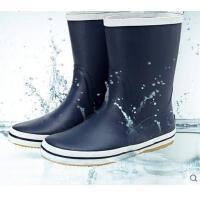 男士休闲户外柔软透气中筒雨靴橡胶防水耐磨钓鱼中筒雨鞋 可礼品卡支付