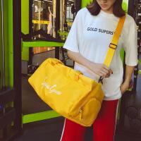 字母短途旅行包男女手提行李包大容量干湿分离轻便运动健身训练包