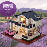 智趣屋diy小屋普罗旺斯手工拼装房子模型别墅玩具创意生日礼物女