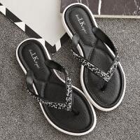 新款平底韩版凉拖沙滩时尚平跟夹脚外穿人字拖鞋女夏季拖鞋