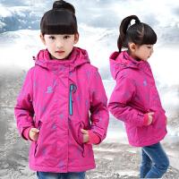 女童冬装外套秋冬女孩棉衣儿童中大童棉袄冲锋衣