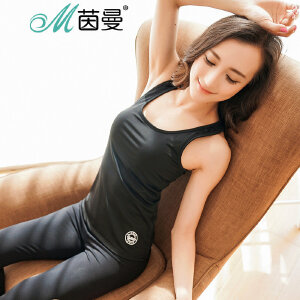 包邮 茵曼内衣 有氧跑步健身体操可拆插垫运动背心女瑜伽服 9871214143