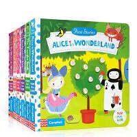 英文原版绘本First Stories BUSY童话篇系列【5册合售】Alice in Wonderland纸板操作活
