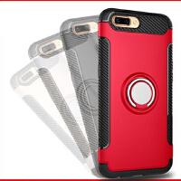 BaaN OPPOR11PLUS手机壳创意支架指环车载防摔多功能保护套 中国红