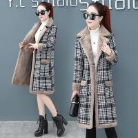 羊羔绒外套女装秋冬季2018新款时尚韩版中长款冬天加绒加厚风衣潮