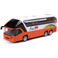 美致 合金公交车模仿真巴士旅游大巴 美国校巴学生校车模型 灯光音乐