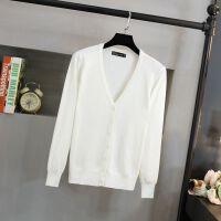 秋冬季针织衫女开衫大码长袖V领外搭短款韩版毛衣小披肩外套空调