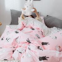 【人气】ins床上四件套全棉纯棉公主网红款床单被套少女心宿舍4三件套夏季