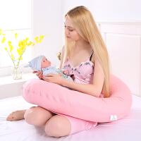 侧卧侧睡枕托腹抱枕护腰枕 学坐哺乳枕靠枕 大C型孕妇枕头