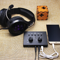 手机K歌直播耳麦带话筒声卡喜马拉雅荔枝主播录音设备加伴奏音乐