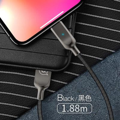 苹果数据线iPhone6充电线6s器7P手机plus自动智能断电8加长2米快充sp短ios冲ipad