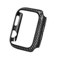 适用于Iphone4 苹果手表代Applewatch碳纤维纹PC手表保护壳 黑色44mm (送TPU软膜)