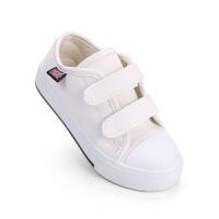 儿童帆布鞋女童小白鞋白色宝宝透气布鞋秋季板鞋