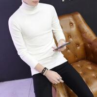 №【2019新款】冬天穿的白色男士高领毛衣男修身韩版羊绒衫男加厚打底衫加绒衫男