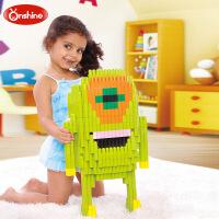 Onshine子弹头塑料拼插 拼装益智儿童智力启蒙玩具宝宝积木132片