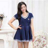 裙式分体平角加大码游泳衣韩国少女保守小胸显瘦遮肚学生泳衣