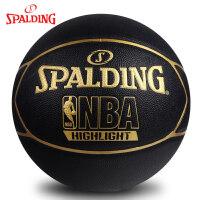 斯伯丁NBA篮球官方正品男耐磨室外7号儿童5小学生6非真皮牛皮