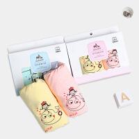 1-3岁纯棉婴儿彩棉儿童内裤平角裤小孩 (2条盒装)