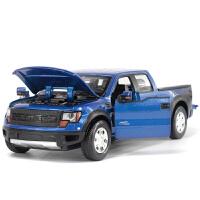 1:32合金汽车模型福特皮卡F-150猛禽仿真车声光回力玩具礼物