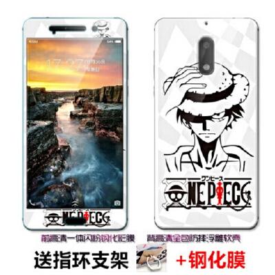 诺基亚6手机壳 Nokia6手机套 诺基亚6 手机壳套 保护壳套 个性创意卡通防摔日韩软套+送一体钢化膜