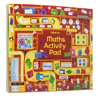 【首页抢券300-100】Usborne Maths Activity Pad 全彩数学解谜活动册英语版 大开本 儿童英