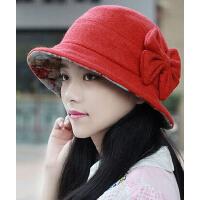 韩版时尚潮流女羊毛呢帽 新款显瘦贝雷帽渔夫帽画家帽