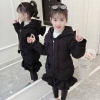 女孩女童棉衣中大童童装中长款棉袄外套