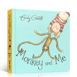 英文原版Monkey and Me 猴子和我 吴敏兰书单 纸板书 格林威奖作家Emily Gravett 儿童自我意识