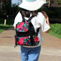 2018新款民族风绣花包刺绣旅行帆布艺女士学生书包双肩背包 随机混配
