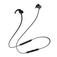 蓝牙耳机无线跑步健身音乐耳塞式颈挂式挂脖式手机通用型 黑色【收藏*品】 标配