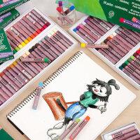 日本SAKURA樱花油画棒50色中粗儿童油化棒粉彩小学生邮画棒宝宝色粉笔腊笔画画笔樱花牌蜡笔套装36色