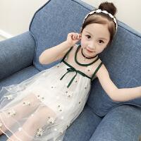女童连衣裙夏季2018韩版新款儿童网纱裙小女孩公主裙时髦洋气裙子