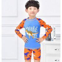 男童游泳衣宝宝泳衣儿童泳衣大童温泉泳衣 男孩分体长袖泳装中