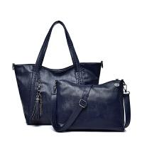 手提包女款手拎包 新款女包 欧美大容量手提包 羊皮子母包 单肩包 斜挎包软皮包