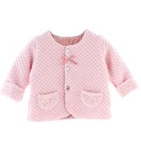 女婴儿上衣女宝宝舒适可爱秋冬季外出服女童冬天外套