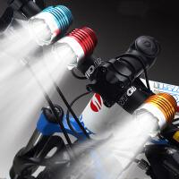 充电LED强光手电筒T6自行车灯前灯 山地车灯骑行灯装备自行车配件