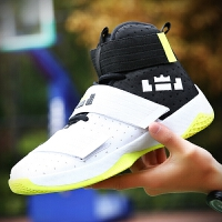秋季10大童12男孩儿童运动篮球鞋14初中学生青少年无鞋带男鞋15岁