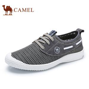 骆驼牌男鞋 新品轻盈透气网面鞋日常休闲舒适低帮男鞋