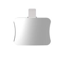 iphone7耳机转接头线苹果7/8plus转换双lightning充电听歌二合一 小蛮腰转接头 银色