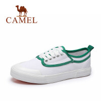 camel骆驼女鞋 春夏新款时尚舒适帆布鞋 百搭小白鞋