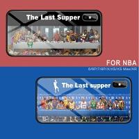 NBA苹果iPhone XS Max手机壳玻璃X潮牌XR乔丹男女硬套mas