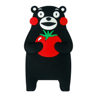【正版授权】酷MA萌 熊本熊硅胶软胶冰箱贴创意卡通造型冰箱贴可爱创意家居装饰品立体磁贴 西红柿赠举重熊本熊1个